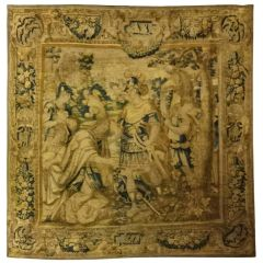 Vlamish Tapestry of King Solomon Meeting the Queen of Sheba