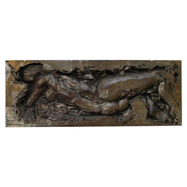 Framed Rare Sculpted Female Torso in Fiberglass