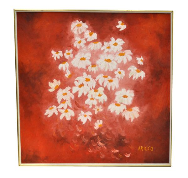 Daisy Painting Acrylic on Canvas by ARICCO