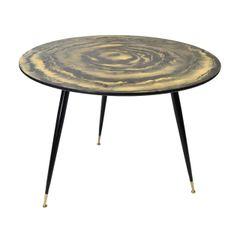 Mid-Century Modern Round Three-Legged Cocktail Table