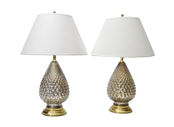 Mercury Glass Pineapple Table Lamps