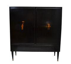Ebonized Cabinet from italy, 1950's