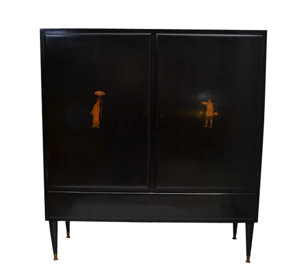 Ebonized Cabinet from italy, 1950's