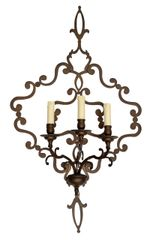 Italian Wrought Iron Applique, Wall Sconce