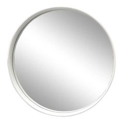 Round White Bentwood Wall Mirror