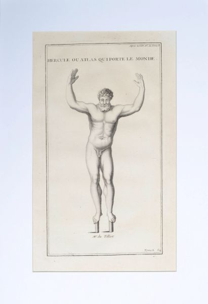 Hercules as Atlas a Copperplate Engraving