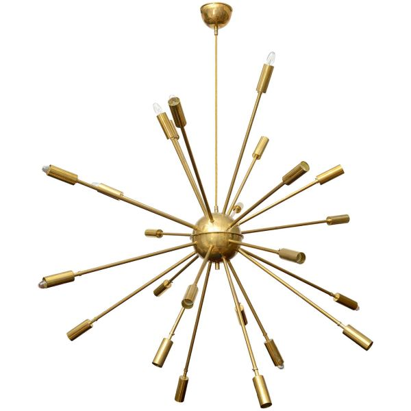 Huge Twenty-Four-Arm Sputnik Chandelier by Stilnovo
