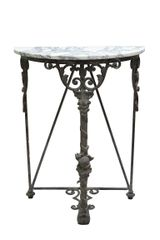 Wrought Iron Console with Marble Top