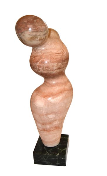 Signed Paporter 20th Century Female Nude Marble Sculpture