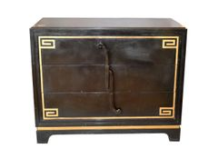 Art Deco Grosfeld House attributed Greek Key Dressers, Pair