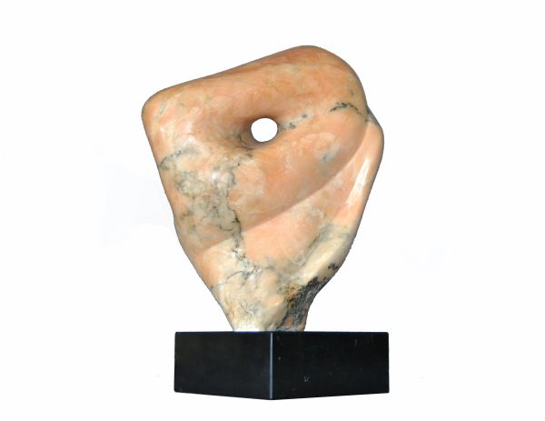Signed Mid-Century Modern Abstract Marble Sculpture by Shapiro