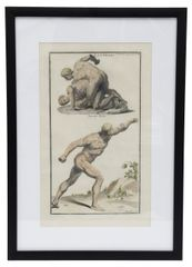 Engraving of a Wrestler and the Borghese Warrior