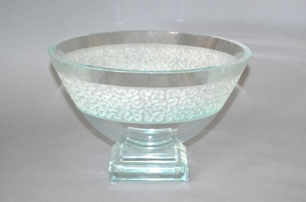 Schlamer Art Glass Award Footed Center Bowl