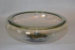 Danish Modern Original Per Lutken Large Glass Bowl for Holmegaard Denmark