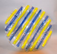 Mid-Century Modern Art Glass Centerpiece / Bowl / Plate in the Style of Higgins