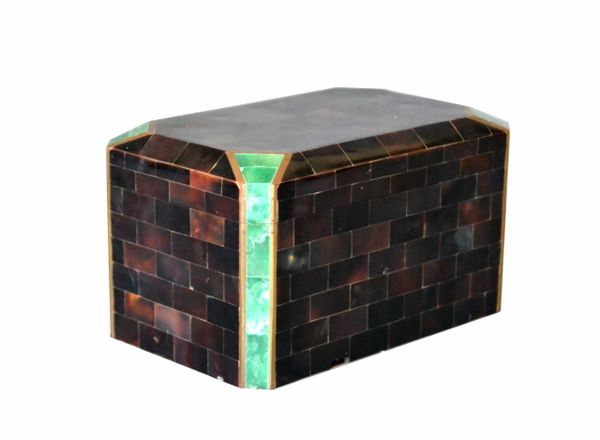 Vintage Maitland Smith Tessellated Stone & Brass Over Rosewood Box