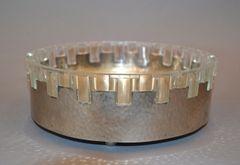 Vintage Lead Crystal & Hammered Metal Decorative Bowl, Serving Bowl, England