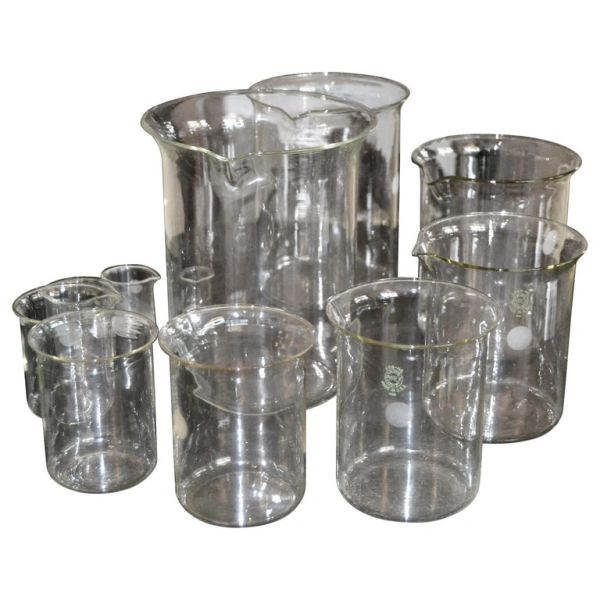 Vintage Nesting Beakers Set Pyrex Glass Graduated Measuring Cups Marked USA