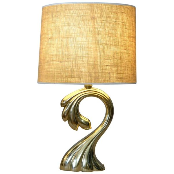 Pierre Cardin Manner Sculptural Brass Table Lamp Mid-Century Modern