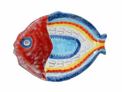 Italian Giovanni Desimone Hand Painted Pottery, Fish Platter, Serving Plate
