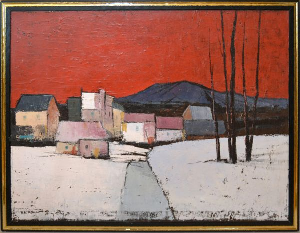 Original Framed Large Oil on Canvas Painting by Canadian Artist A.M. Roberts