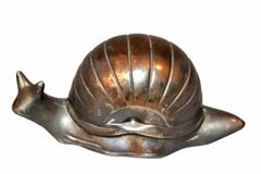 Vintage Silver Plate Snail Salt Dish, Spice Dish With Glass Inlay
