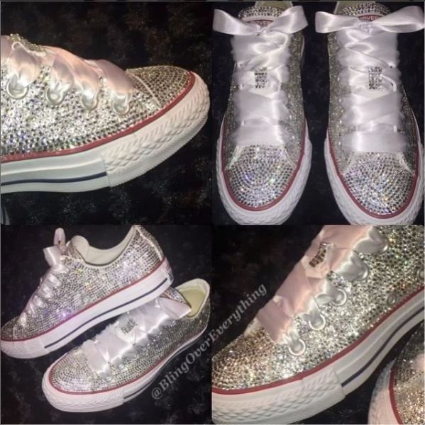 2f403535a All Bling Converse Chuck Taylors Swarovski Crystals | Bling Over Everything  - Customized T-Shirts, Wine Glasses & More