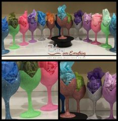 Customized Glitter Wine Glasses (Body V)
