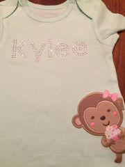Custom Bling Baby / Infant Onesie Shirt