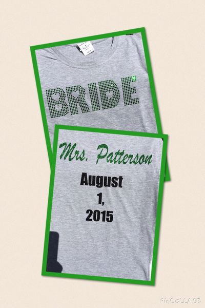 Custom BRIDE shirt w/ Future name on back