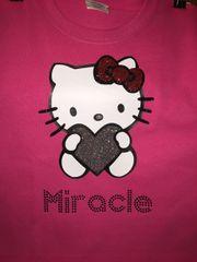 Custom Hello Kitty Shirt with Bling Name