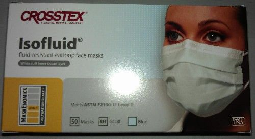 Crosstex IsoFluid Resistant Earloop Face Mask (500)