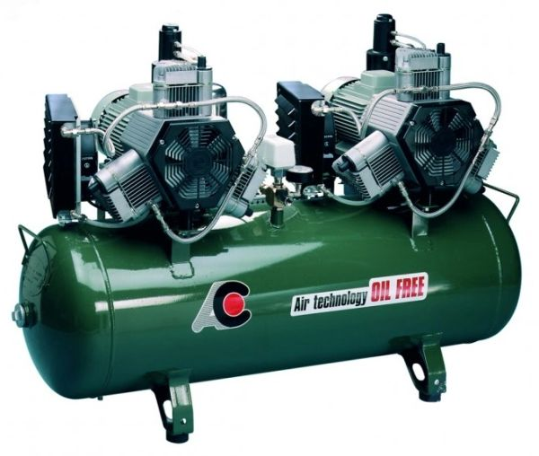 Twin Head 3 cylinder Oiless Compressor (Cattani)