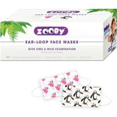 Zooby ASTM Level 1 Medical Dental Disposable Earloop Face Masks Assorted 30/Bx