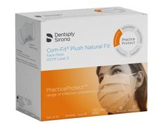 Dentsply Sirona Com-Fit Plush Natural fit Medical Ear-Loop Disposable Face Mask