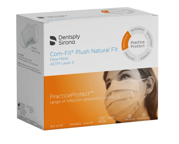 Dentsply Sirona Com-Fit Plush Natural fit Medical Ear-Loop Disposable Face Mask