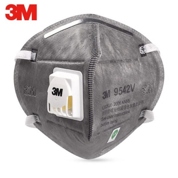 3M 9542V- KN95 Particulate Respirator Masks With Valve