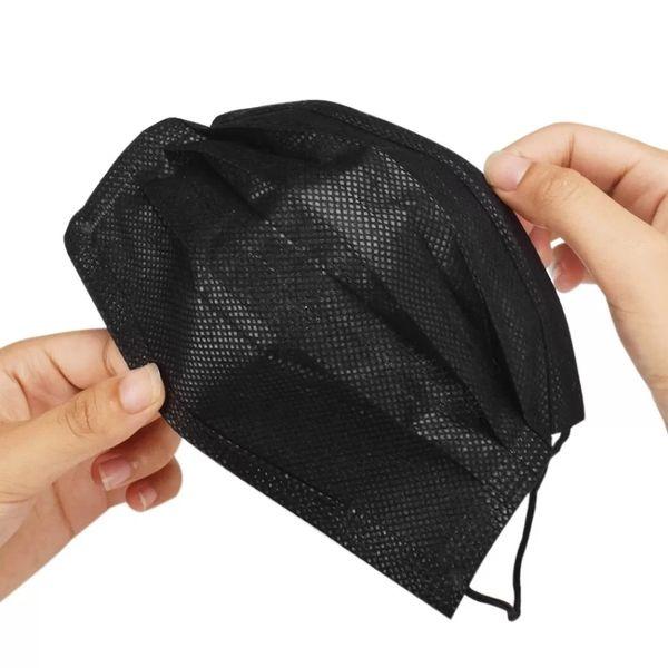 SureSeal ASTM Level 3 Black Medical Ear-Loop Disposable Face Masks Pk 10