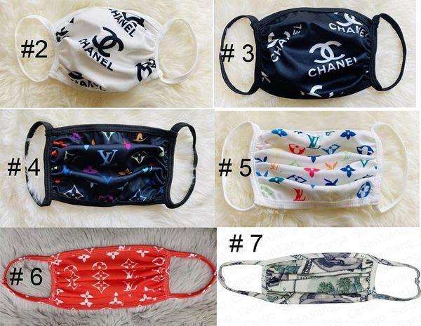Luxury Designer Washable Material Stylish Face Masks Free Shipping