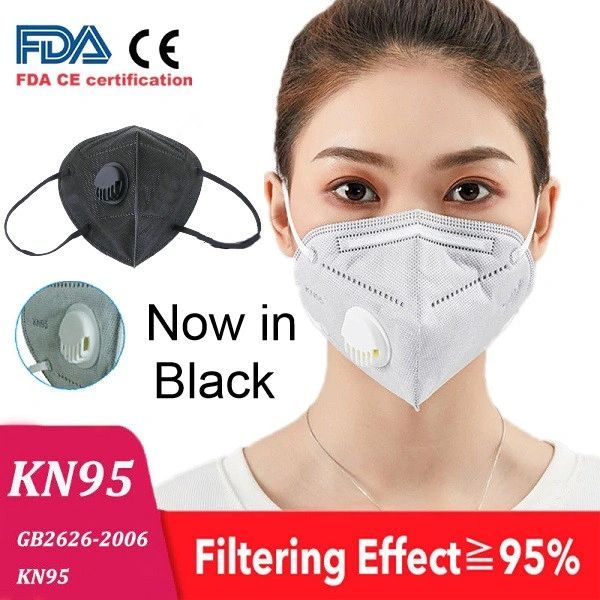 Grey KN95 Soft Fabric EarLoop Particulate Respirator With Valve