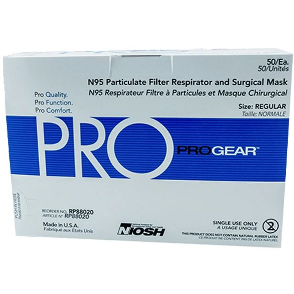 ProGear Surgical N95 Particulate Respirator Masks Niosh Approved