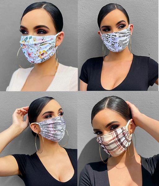 Luxury Designer Washable Material Stylish Burberry Print Face Mask