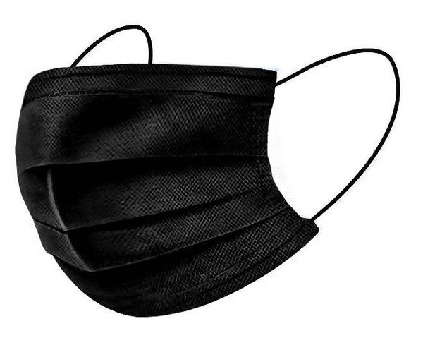 Sure Seal ASTM Level 1 Black Medical Ear-Loop Disposable Face Mask