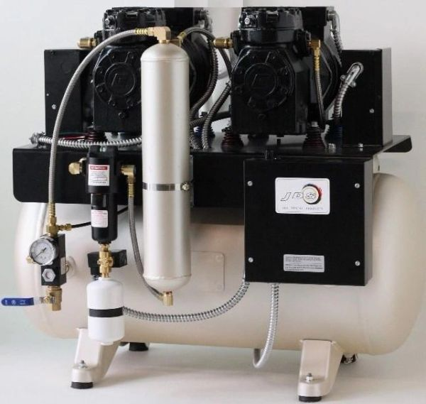 JLC 22 Double Head Oilless Dental Air Compressor (JDS)