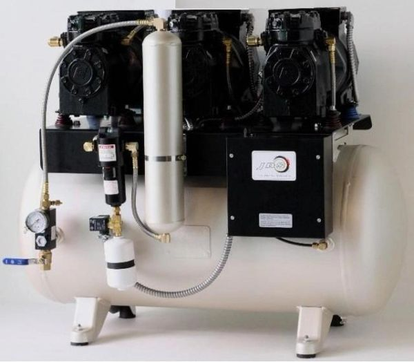 JLC 32 Triple Head Oil-less Dental Air Compressor (JDS)