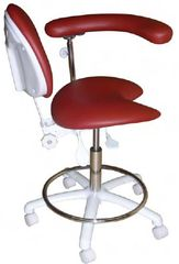 Model 2021 Dental Assistant Stool, Contoured seat with special cutout (Galaxy)