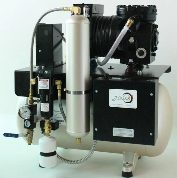 JLC 12 Single Head Lubricated Dental Air Compressor (JDS)