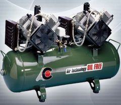 Twin Head 2 cylinder Oilless Compressor (Cattani)