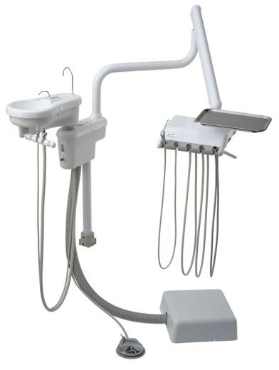 Engle E300 Over Patient Dental Dental Delivery System w/ Cuspidor & Assistant's Arm