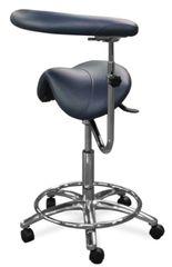 Galaxy Model 2085 Dental Assistant Stool,Contoured Ergo Saddle Seat